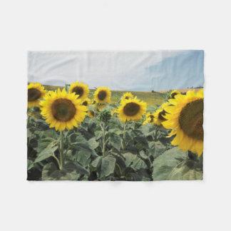 France Provence, View of sunflowers field Fleece Blanket