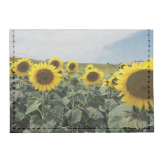 France Provence, View of sunflowers field Tyvek® Card Case Wallet