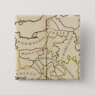 France, Providences and Boundaries 15 Cm Square Badge