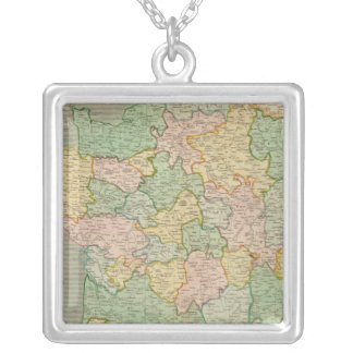 France, provinces 2 silver plated necklace