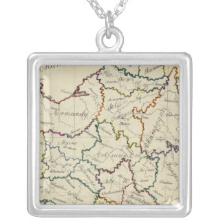 France provinces silver plated necklace