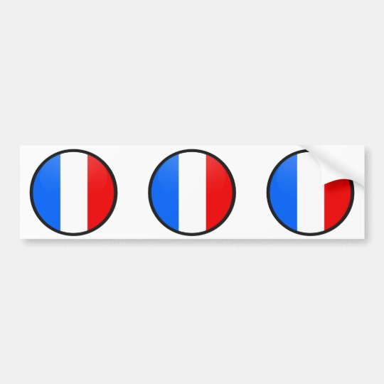France quality Flag Circle Bumper Sticker
