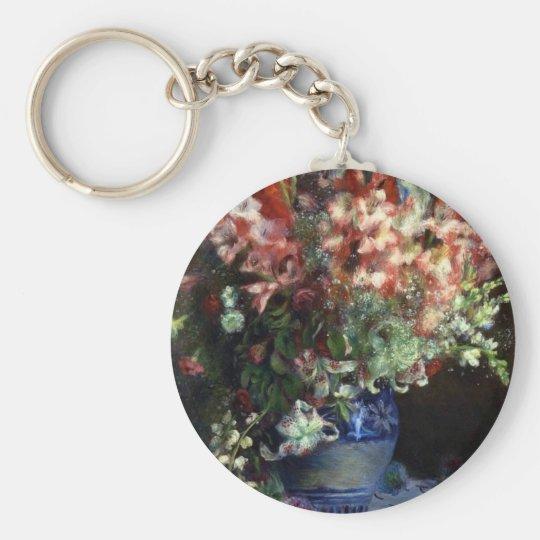 FRANCE--Renoir: Gladiolas in a Vase Basic Round Button Key Ring
