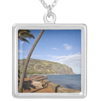 France, Reunion Island, St-Denis, view of La Silver Plated Necklace