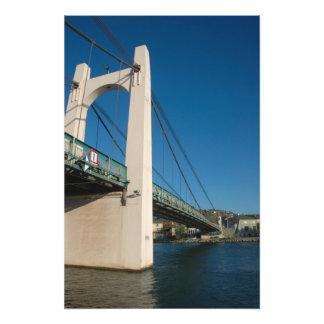 France, Rhone-Alps, Condrieu, bridge across 2 Photo Print