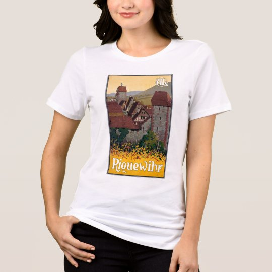 France Riquewihr Vintage Travel Poster Restored T-Shirt