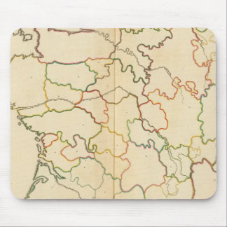 France Rivers Outline Mouse Mat