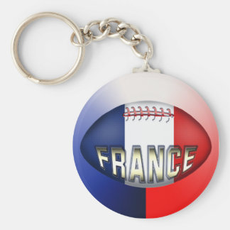 France Rugby Ball Key Ring