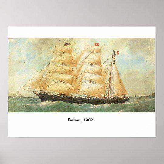 France, Sailing ship Belem 1902 Poster