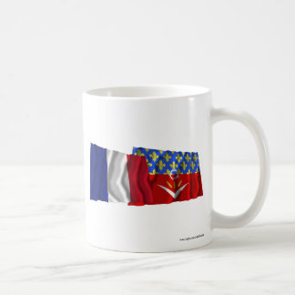 France & Seine-Saint-Denis waving flags Coffee Mugs