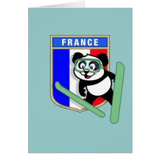 France Ski-jumping Panda Cards