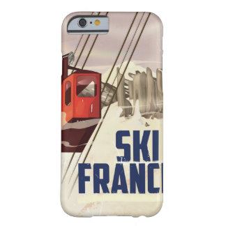 France Skiing vintage travel poster. Barely There iPhone 6 Case