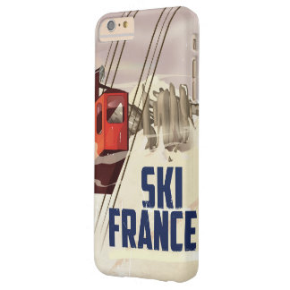 France Skiing vintage travel poster. Barely There iPhone 6 Plus Case