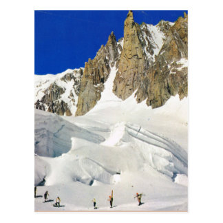 France, Sking in the French Alps Postcard