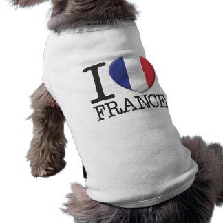 France Sleeveless Dog Shirt