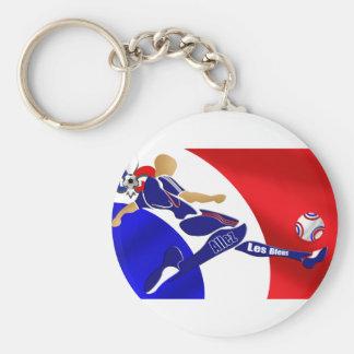 France Soccer - Brazil 2014 Euro 2012 Football Basic Round Button Key Ring