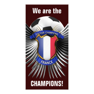 France Soccer Champions Customized Photo Card