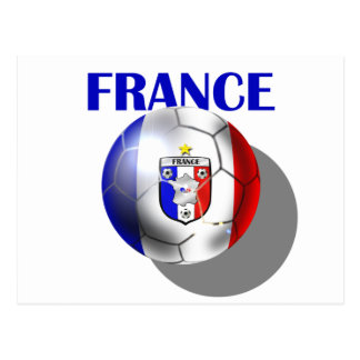 France soccer gear for French football fans Postcard