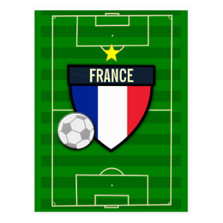 France Soccer Postcard