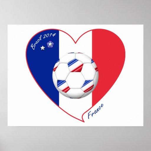 """FRANCE"" Soccer Team. Soccer of France 2014 Posters"
