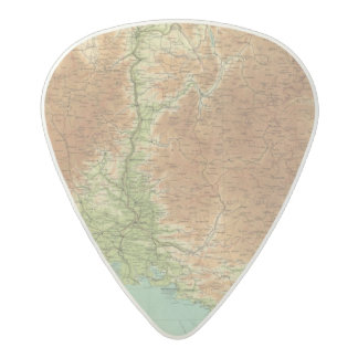 France southeastern section Corsica Marseille Acetal Guitar Pick