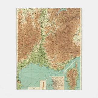 France southeastern section Corsica Marseille Fleece Blanket