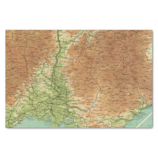 France southeastern section Corsica Marseille Tissue Paper