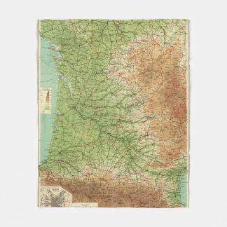 France southwestern section Bordeaux Fleece Blanket