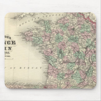 France, Spain, and Portugal Mouse Mat
