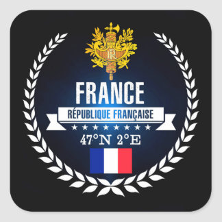 France Square Sticker