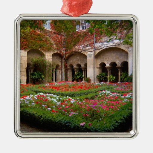 France, St. Remy de Provence, cloisters at 2 Christmas Tree Ornaments