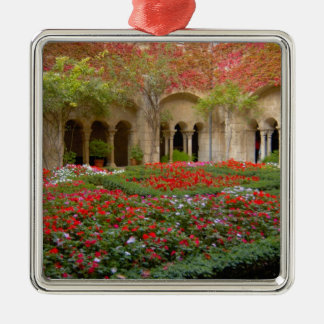 France, St. Remy de Provence, cloisters at 3 Silver-Colored Square Decoration