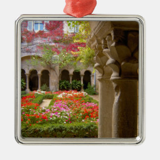 France, St. Remy de Provence, cloisters at Christmas Ornament