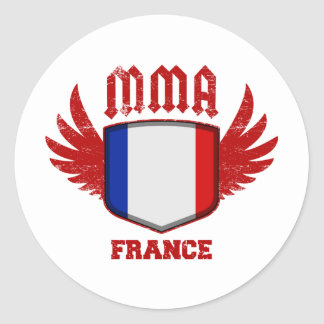 France Round Stickers