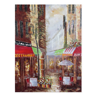 France Streets Postcard