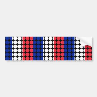 France Stylish Girly Chic : Polka Dot French Flag Bumper Sticker