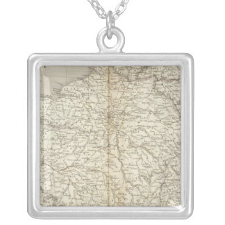 France, Switzerland and Belgium Silver Plated Necklace