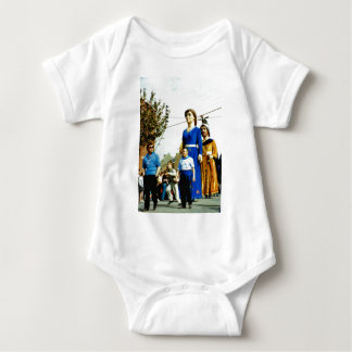France, the Flanders Giants on Parade Baby Bodysuit