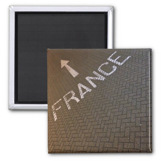 France, this way! square magnet