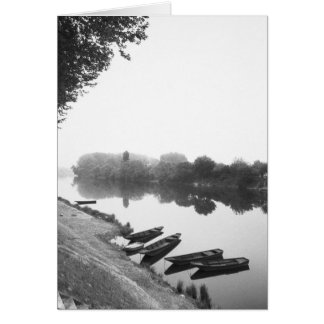 FRANCE, Touraine, The Loire: CHINON Boats along Card