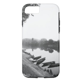 FRANCE, Touraine, The Loire: CHINON Boats along iPhone 8/7 Case