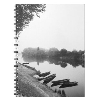 FRANCE, Touraine, The Loire: CHINON Boats along Spiral Notebook