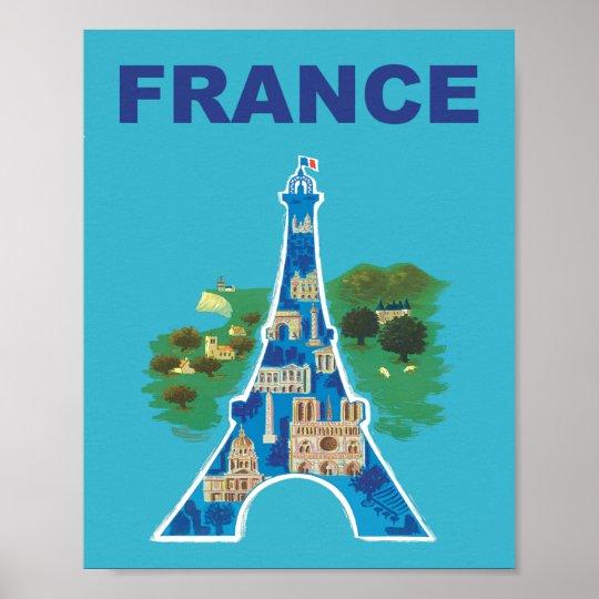 France travel poster