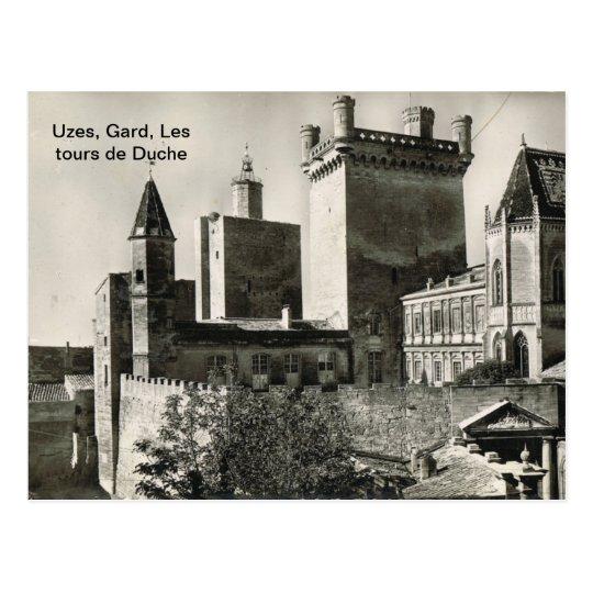 France, Uzes, Gard, Les tours de Duche Postcard