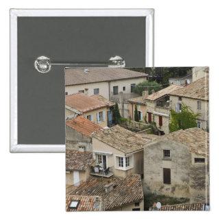 France, Vaison la Romaine. Looking down on 15 Cm Square Badge
