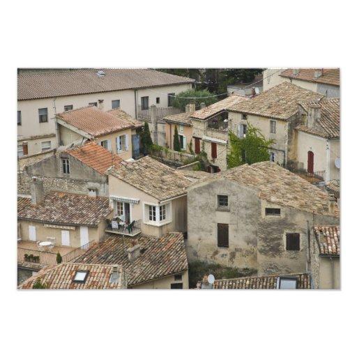 France, Vaison la Romaine. Looking down on Photo Print