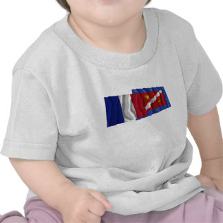 France Val-d Oise waving flags Tee Shirts