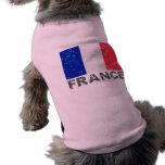 France Vintage Flag Pet Clothes