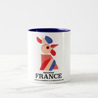 France - Voyage aujourd'hui à la France par l'air Two-Tone Coffee Mug