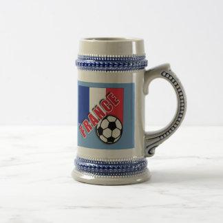 FRANCE World Soccer Fan Tshirts Beer Steins